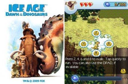 "Игра ""Ледниковый период 3: Эра динозавров"" (Ice Age: Dawn of the Dinosaurs) 2009  для Java"